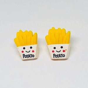 New! Potato French Fries Stud Earrings